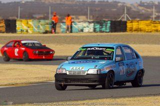 Nic Martin and Shaun Besteman (RDG Opel Kadett) win Class B