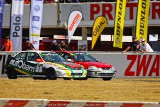 Brett Garland (autObarn/ Jonnesway/ Total/ Sab Honda Civic) and Jono du Toit (Trans Africa Racing Honda Civic) - Class A