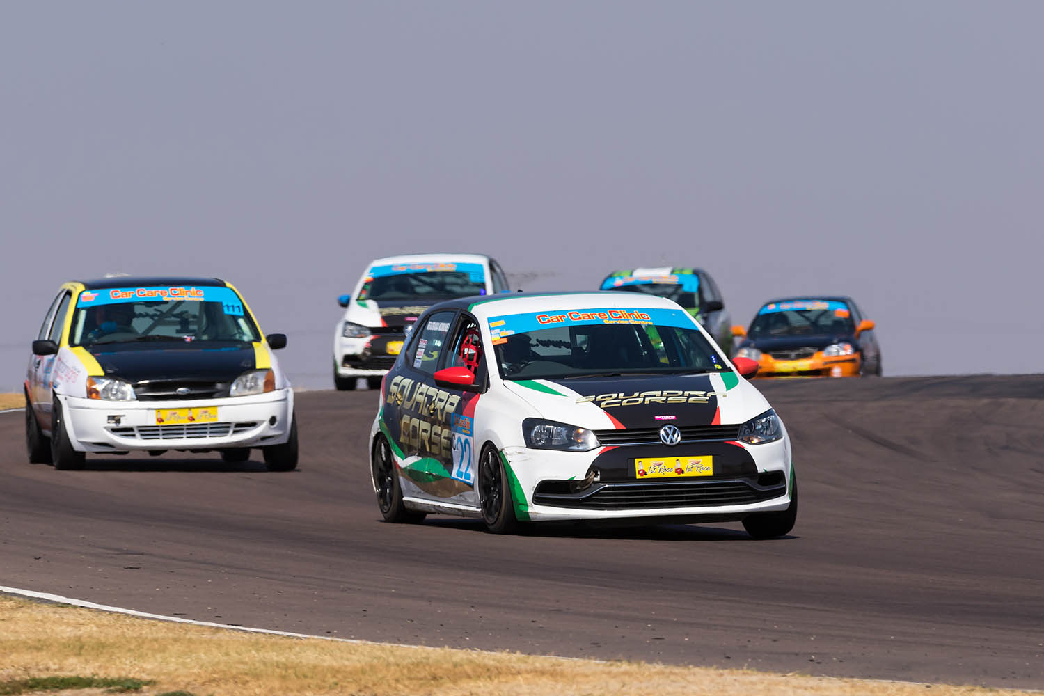 Komane leads de Lange and the rest of the Class C pack