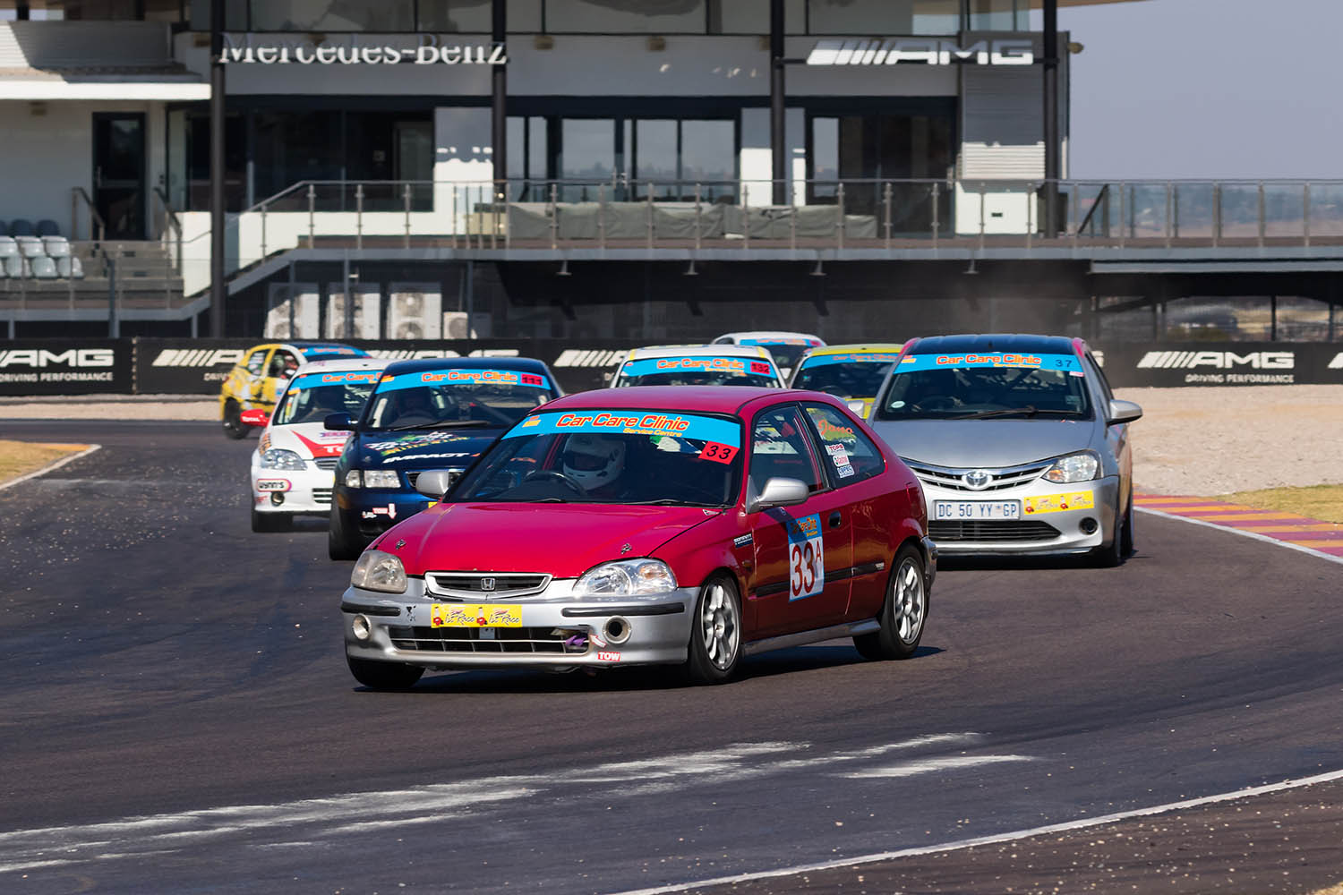 Jonathan du Toit leads the Class A pack
